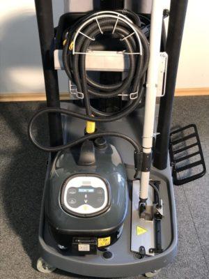 Dampfmopp mit Schlauch können problemlos und sicher aufgenommen und verstautwerden.